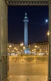 Στήλη Vendome τη νύχτα, Παρίσι, Γαλλία Στοκ Εικόνες