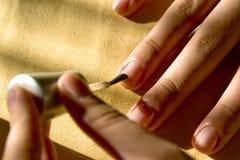στίλβωση νυχιών Στοκ φωτογραφία με δικαίωμα ελεύθερης χρήσης