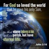 Στίχος Βίβλων του John 3:16 στοκ φωτογραφίες