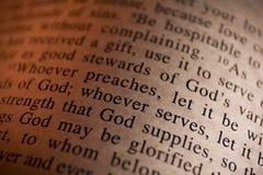 στίχος Βίβλων Στοκ φωτογραφίες με δικαίωμα ελεύθερης χρήσης