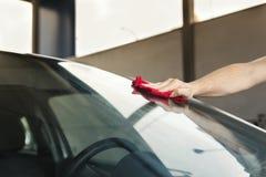 Στίλβωση αυτοκινήτων Στοκ Εικόνες
