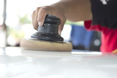 Στίλβωση το αυτοκίνητο Στοκ Εικόνες