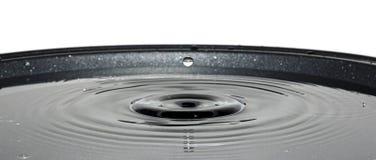 Σταγονίδιο νερού που περιέρχεται στο τηγάνι Στοκ φωτογραφία με δικαίωμα ελεύθερης χρήσης