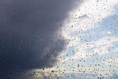 σταγόνες βροχής γυαλιού Στοκ Φωτογραφίες