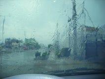 Σταγόνες βροχής δυνατής βροχής Στοκ Εικόνες