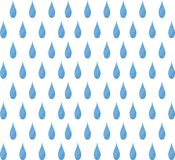Σταγόνες βροχής υποβάθρου Watercolor Άνευ ραφής υπόβαθρο σταγόνων βροχής Watercolor Στοκ Εικόνες