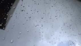 Σταγόνες βροχής Windowpane απόθεμα βίντεο