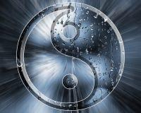 Σταγόνες βροχής Yin Yang στοκ εικόνες με δικαίωμα ελεύθερης χρήσης