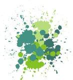 Σταγόνες και παφλασμοί του χρώματος Διανυσματική απεικόνιση υποβάθρου παφλασμών χρώματος πράσινη Στοκ Φωτογραφίες