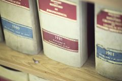 Σταθερά νομικά βιβλία νόμου Στοκ εικόνα με δικαίωμα ελεύθερης χρήσης