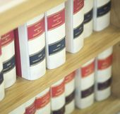 Σταθερά νομικά βιβλία νόμου Στοκ Φωτογραφία