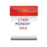 Σταθερή μορφή εικονιδίων πώλησης Δευτέρας Cyber που απομονώνεται σε ένα μαύρο διάνυσμα υποβάθρου Στοκ φωτογραφία με δικαίωμα ελεύθερης χρήσης
