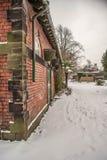 Σταθερός φραγμός στο χιόνι στοκ φωτογραφία με δικαίωμα ελεύθερης χρήσης