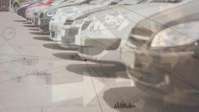 Σταθμευμένα αυτοκίνητα απόθεμα βίντεο