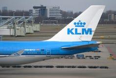 Σταθμεύοντας ολλανδικό αεροπλάνο Boeing Στοκ Εικόνα