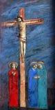 Σταθμοί του σταυρού, κύβοι του Ιησού στο σταυρό Στοκ εικόνες με δικαίωμα ελεύθερης χρήσης