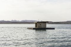 Σταθμός βαρκών αντλία-έξω στο υδρόμελι λιμνών Στοκ φωτογραφίες με δικαίωμα ελεύθερης χρήσης