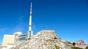 Σταθμός βουνών Saentis στην Ελβετία Στοκ εικόνες με δικαίωμα ελεύθερης χρήσης