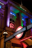 σταθμός εισόδων τσίρκων piccadilly  Στοκ φωτογραφία με δικαίωμα ελεύθερης χρήσης