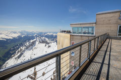 σταθμός Ελβετία βουνών saentis Στοκ φωτογραφία με δικαίωμα ελεύθερης χρήσης
