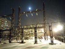 Σταθμός ηλεκτρικής δύναμης στοκ εικόνα