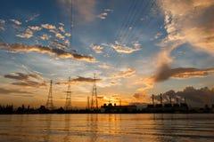 Σταθμός ηλεκτρικής δύναμης Στοκ Εικόνες