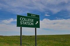 Σταθμός κολλεγίου στοκ φωτογραφίες
