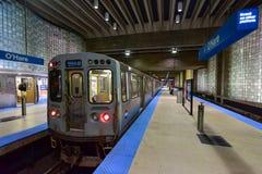 Σταθμός μετρό αερολιμένων O'$l*Harez - Σικάγο στοκ εικόνες