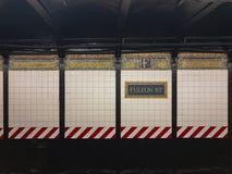 Σταθμός μετρό οδών Fulton - πόλη της Νέας Υόρκης Στοκ εικόνα με δικαίωμα ελεύθερης χρήσης