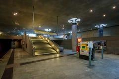 Σταθμός μετρό Ομοσπονδιακής Βουλής (σταθμός u-Bahn) στο Βερολίνο Στοκ Φωτογραφία