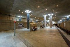 Σταθμός μετρό Ομοσπονδιακής Βουλής (σταθμός u-Bahn) στο Βερολίνο Στοκ φωτογραφία με δικαίωμα ελεύθερης χρήσης