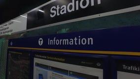 Σταθμός μετρό στη Στοκχόλμη φιλμ μικρού μήκους