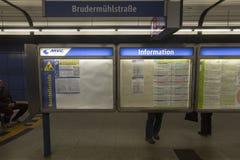 Σταθμός μετρό στο Μόναχο, Γερμανία Στοκ εικόνες με δικαίωμα ελεύθερης χρήσης
