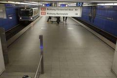 Σταθμός μετρό στο Μόναχο, Γερμανία Στοκ φωτογραφία με δικαίωμα ελεύθερης χρήσης