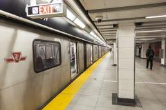 Σταθμός μετρό στο Τορόντο, Καναδάς Στοκ Εικόνες