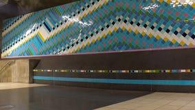 Σταθμός μετρό Τέχνη στον υπόγειο Στοκχόλμη Σουηδία απόθεμα βίντεο