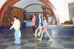 Σταθμός μετρό της Μόσχας Τετραγωνικός υπόγειος επαναστάσεων Στοκ εικόνες με δικαίωμα ελεύθερης χρήσης