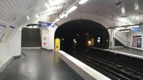 Σταθμός μετρό του Παρισιού υπόγεια Στοκ φωτογραφίες με δικαίωμα ελεύθερης χρήσης