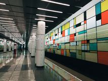 Σταθμός μετρό Στοκ Εικόνες