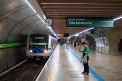 Σταθμός μετρό Consolação, Σάο Πάολο, Βραζιλία στοκ φωτογραφίες με δικαίωμα ελεύθερης χρήσης