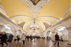 σταθμός μετρό komsomolskaya στοκ φωτογραφία με δικαίωμα ελεύθερης χρήσης