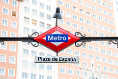 Σταθμός μετρό Madris Στοκ Φωτογραφία