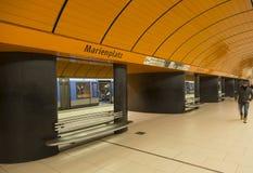 Σταθμός μετρό Marienplatz στο Μόναχο, Γερμανία Στοκ Φωτογραφίες
