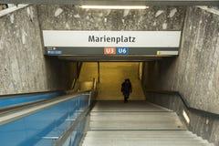 Σταθμός μετρό Marienplatz στο Μόναχο, Γερμανία Στοκ Εικόνες