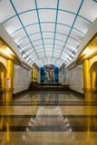 Σταθμός μετρό Mezhdunarodnaya σε Άγιο Πετρούπολη, Ρωσία στοκ εικόνα με δικαίωμα ελεύθερης χρήσης