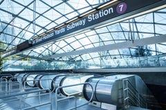 Σταθμός μετρό NYC ναυπηγείων του Hudson Στοκ Φωτογραφία