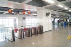 Σταθμός μετρό Shajiang της γραμμής 11 μετρό Shenzhen Στοκ φωτογραφία με δικαίωμα ελεύθερης χρήσης