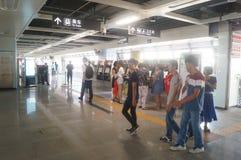 Σταθμός μετρό Shajiang της γραμμής 11 μετρό Shenzhen Στοκ εικόνα με δικαίωμα ελεύθερης χρήσης