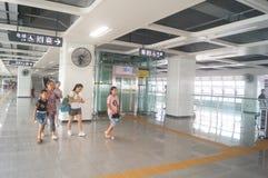 Σταθμός μετρό Shajiang της γραμμής 11 μετρό Shenzhen Στοκ Εικόνα