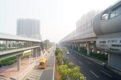 Σταθμός μετρό Shajiang της γραμμής 11 μετρό Shenzhen Στοκ Φωτογραφίες